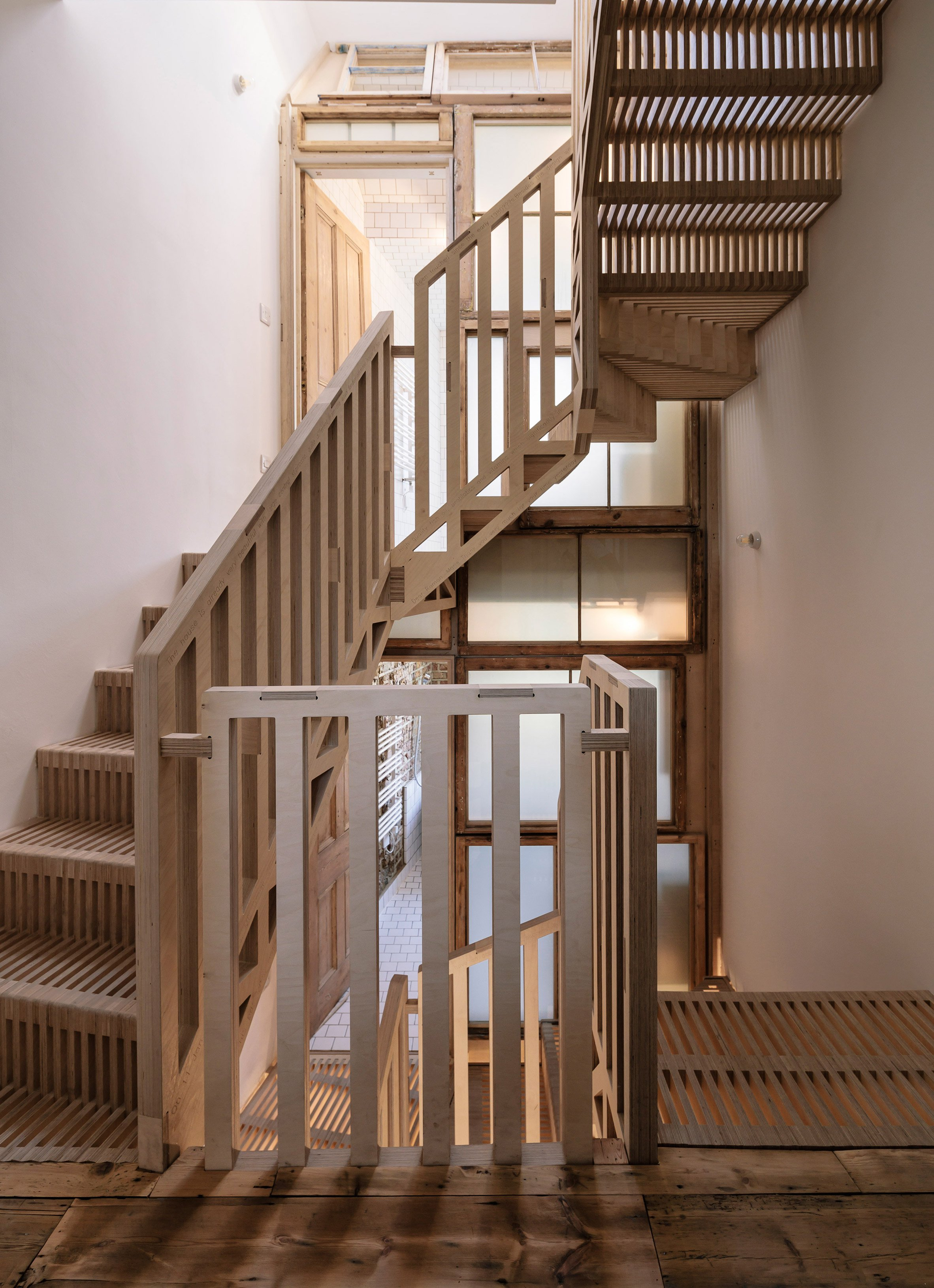 U Shaped Plywood Staircase