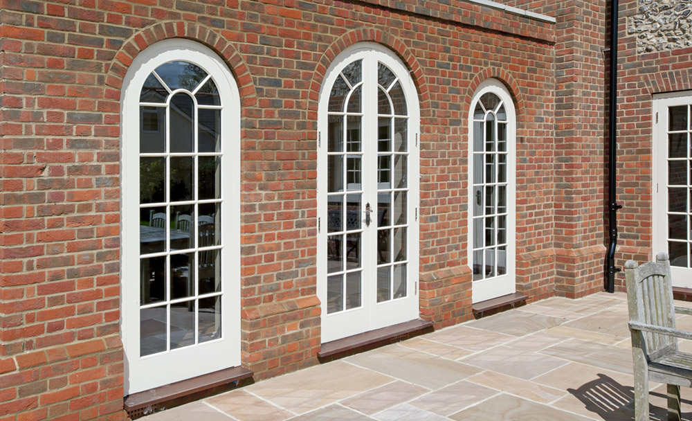 Bespoke French Doors with Curved Arches