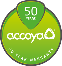 Accoya 50Year warranty logo