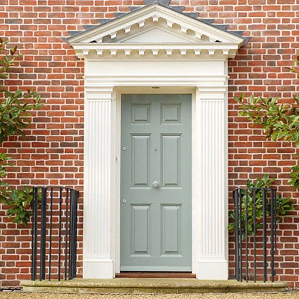 External Timber Green Door