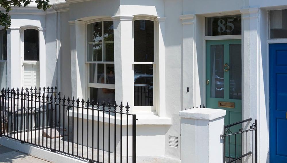 Sash Windows on Victorian Town House
