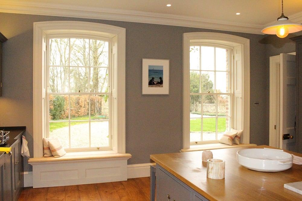 Priory Farmhouse Sash Windows Inside