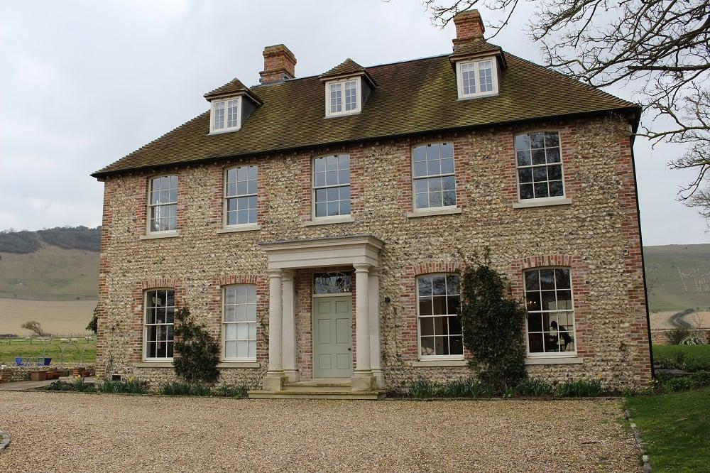 Priory Farmhouse Front Sash Windows