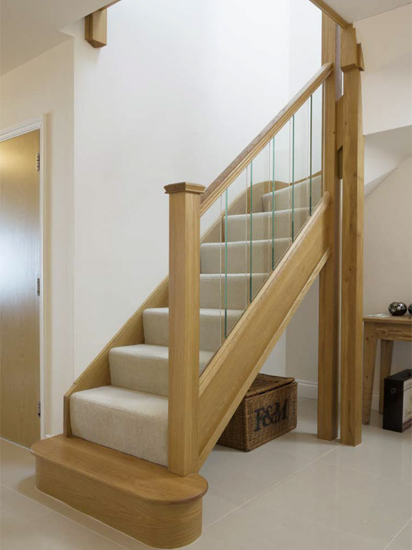 Oxford Staircase with Glazed Balusters